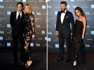 Kate Moss, Victoria e David Beckham e mais estrelas na exposição de Alexander McQueen