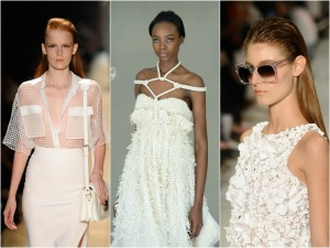 Nevou nas passarelas de verão da fashion week: é o branco ditando moda!