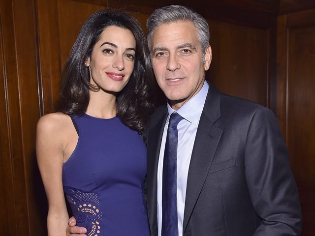 Amal e George Clooney || Crédito: Mike Coppola/Getty Images