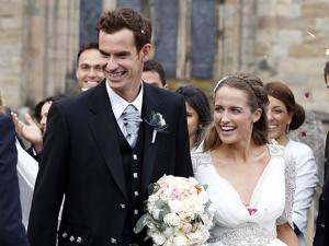 O tenista Andy Murray trocou as alianças com Kim Sears neste final de semana