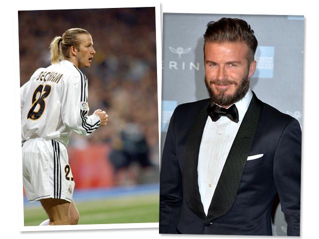 David Beckham chega aos 40 com uma coleção de penteados  ||  Créditos: Getty Images