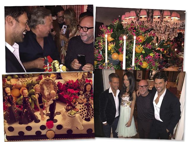 Jantar em homenagem a Domenico Dolce    Créditos: Arquivo pessoal