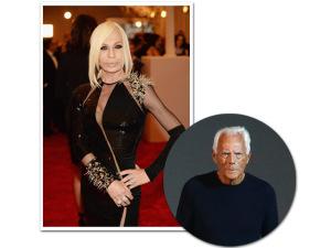 Armani cita frase de Gianni Versace em entrevista e Donatella azeda