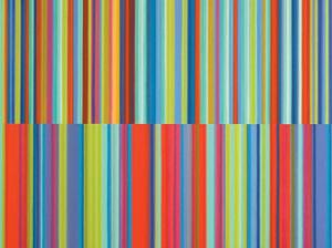 Artista plástico transforma músicas em painéis super coloridos
