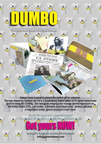 """O cartaz de """"Dumbo"""" e seu material de """"divulgação""""    Créditos: Divulgação"""