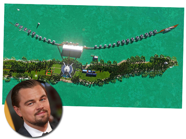O projeto do eco-resort de Leonardo DiCaprio em Belize    Créditos: Divulgação / Getty Images