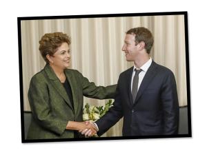 Mark Zuckerberg posta foto com Dilma e fala sobre projetos para o Brasil