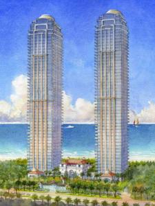 Pista de patinação e boliche: os mimos do novo condomínio privado de Miami