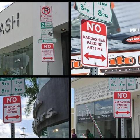 As placas espalhadas pela cidade || Créditos: Reprodução  Twitter
