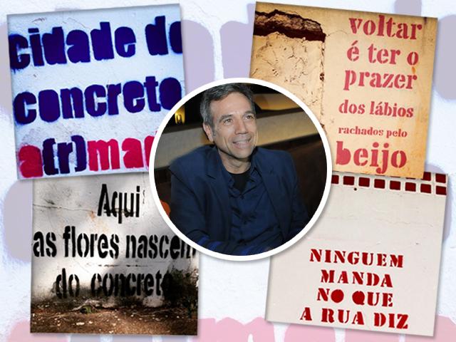 Paulo Von Poser e as frases retratadas em Brasília || Divulgação: Andre Ligeiro / Reprodução