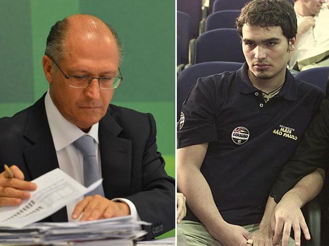 O governador Geraldo Alckmin e o seu filho Thomaz.||Créditos: Agência Brasil e Reprodução
