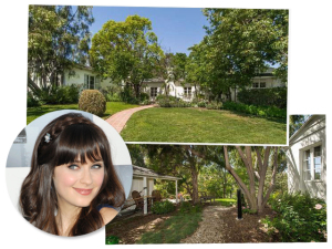 De mudança: Zooey Deschanel põe casa à venda por R$ 6 milhões