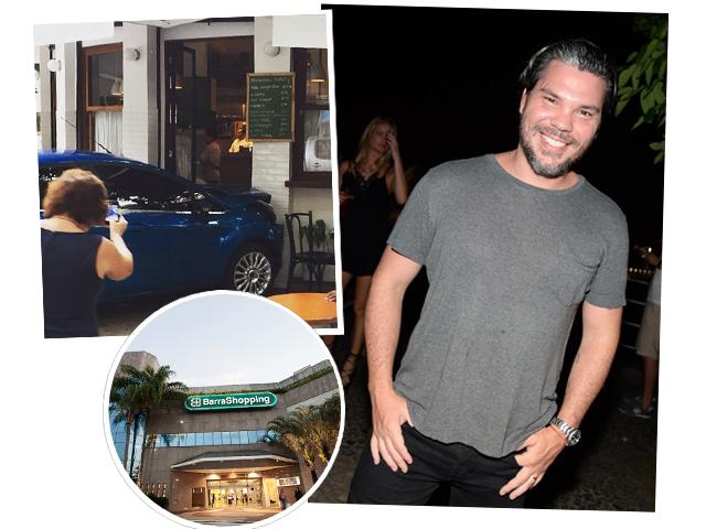 Pedro de Artagão, a fachada do Formidable depois do acidente e o Barra Shopping, no Rio || Créditos: Reprodução