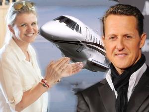 Mulher de Schumacher vende jatinho do marido por US$38 milhões