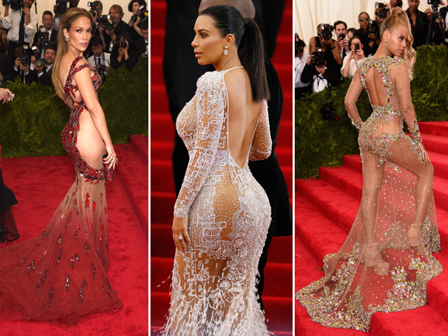 Jennifer Lopez, Kim Kardashian e Beyoncé    Créditos: Getty Images