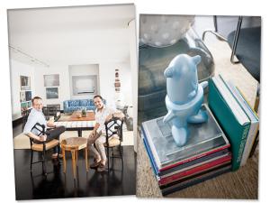 Obras de arte contemporânea em destaque em apartamento em SP