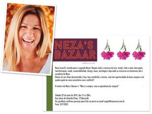 Neza Cesar convida para a segunda edição do Neza's Bazaar