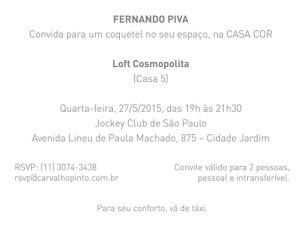 Fernando Piva apresenta espaço na Casa Cor 2015 com bons drinks