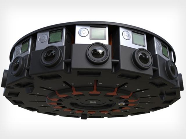 Parte do projeto Jump, sistema com 16 câmeras GoPro do Google  || Créditos: Divulgação