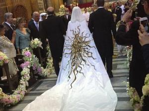 Chiqueria no casamento de joalheira top com membro do clã Getty em Roma