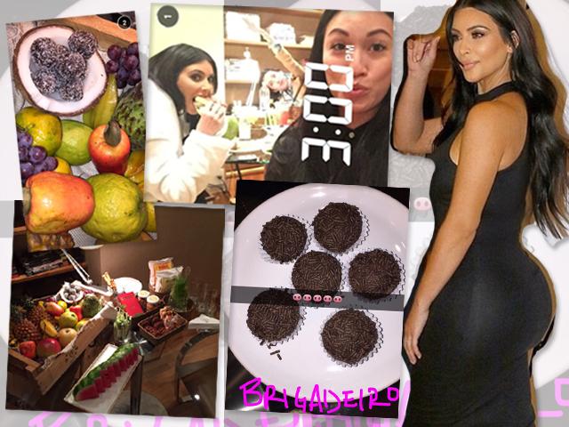 Kim Kardashian e seu menu bem variado ||  Créditos: Reprodução / AgNews