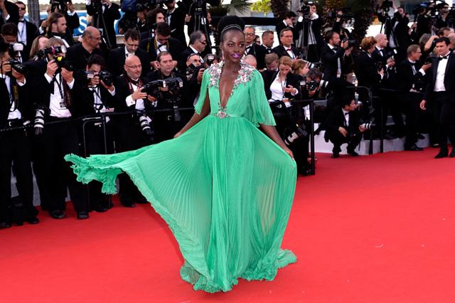 Lupita Nyong'o em Cannes      Créditos: Getty Images