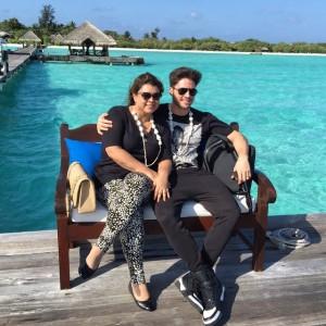 Preta Gil e Rodrigo Godoy aterrissam nas Maldivas para lua de mel