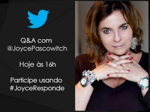 Joyce Pascowitch participa de bate-papo pelo Twitter