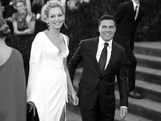 Uma Thurman e Andre Balazs no Met Gala 2015  ||  Créditos: Getty Images
