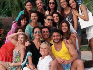 Xuxa no segundo dia de festas pelo aniversário de Ivete Sangalo