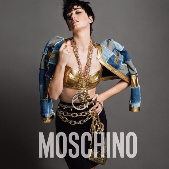 Katy Perry para a campanha da Moschino    Créditos: Reprodução / Instagram