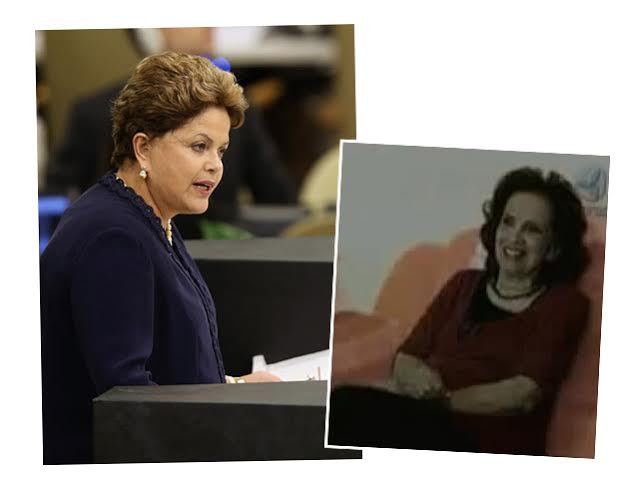 Dilma Rousseff  e sua mãe Dilma Jane Rousseff | Crédito: getty images