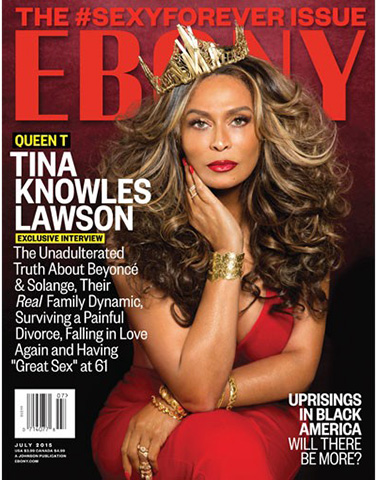 Tina na capa da revista Ebony  ||  Créditos: Reprodução