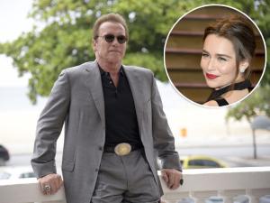 Schwarzenegger: empolgado com sua nova colega de elenco