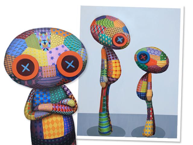 Obras de TINHO que estarão em exposição    Créditos: Divulgação