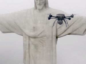 Uau! Drones são usados para digitalizar Cristo Redentor