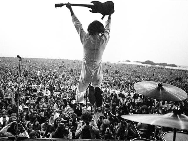 A apresentação do The Who no festival da Ilha de Wight em 1969    Créditos: Divulgação