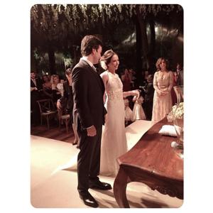 Carol Dieckmann, Seu Jorge e Xuxa esquentam casamento em SP
