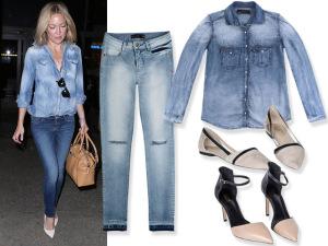 Jeans + jeans para deixar a semana mais azul. Fica a dica!