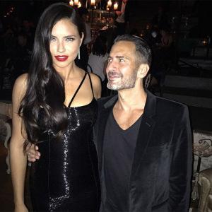 Adriana Lima rouba a cena em festa de Marc Jacobs em NY