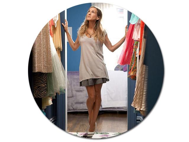 O closet de Carrie Bradshaw || Créditos: Reprodução