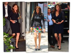 Vestido, scarpin e make clássico: o estilo da exuberante Caitlyn Jenner