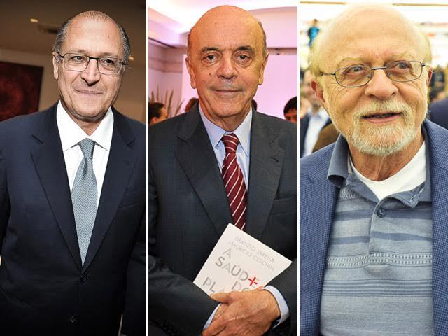 Geraldo Alckmin, José Serra e Alberto Goldman    Créditos: Paulo Freitas