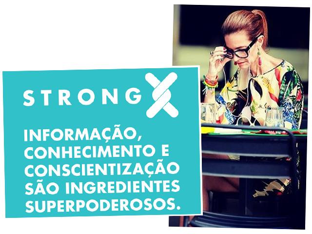 Mônica Mendes em prol da X Frágil    Créditos: Divulgação