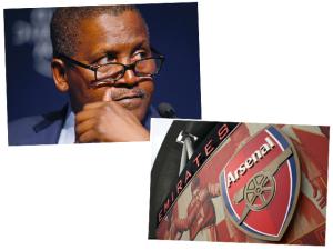 Homem mais rico da Nigéria quer comprar o time do Arsenal