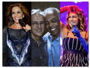 Gil, Caetano, Daniela Mercury e Ivete juntos no Globo de Ouro Palco Viva