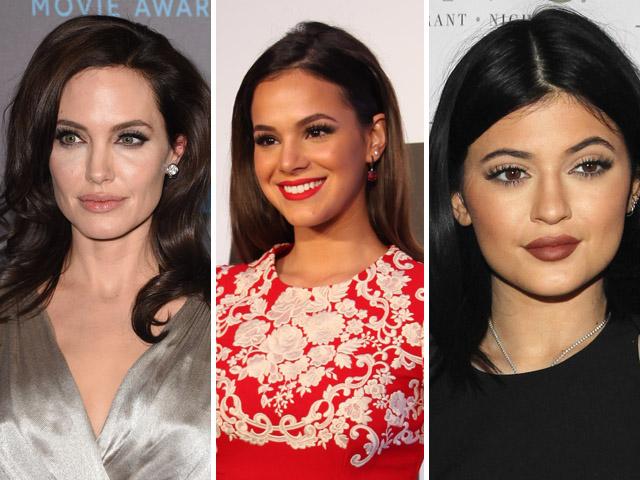 Angelina Jolie, Bruna Marquezine e Kylie Jenner  //  Créditos: Getty Images