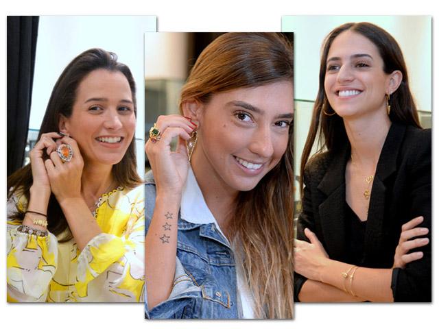 Joana Nolasco, Luiza D'Angelo e Marina Brum no ateliê da Roberta do Rio || Créditos: Juliana Rezende