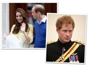 Príncipe Harry não vai ao batizado da princesa Charlotte neste domingo
