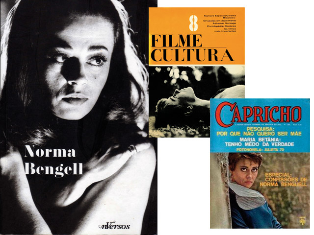 """Norma Bengell perdeu o papel em """"Dancin' Days"""" para Joana Fomm em 1978. O motivo? Um ataque de estrelismo; abaixo, a atriz em capas de revistas antigas  Créditos: Reprodução/Revista J.P"""